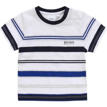 T-shirt niemowlęcy w pasy Hugo Boss 003837