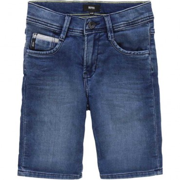 Jeansowe szorty dla chłopca Hugo Boss 003840
