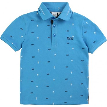 Niebieskie polo dla chłopca Hugo Boss 003846