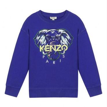 Kobaltowa bluza dla dziecka Kenzo Kids 003864 A