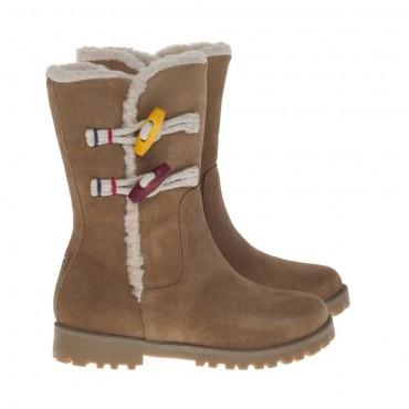 Botki dziewczęce z futrem Tommy Hilfiger FU56814628 - stylowe buty dla dzieci - sklep internetowy euroyoung.pl
