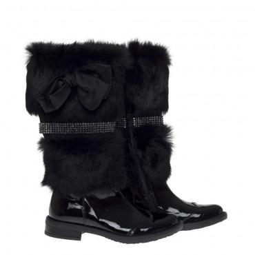 Kozaki dziewczęce z futrem Miss Grant 7800 - ekskluzywne buty dla dzieci - sklep internetowy euroyoung.pl