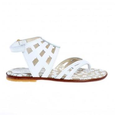Białe sandałki dla dziewczynki Simonetta 12784 A