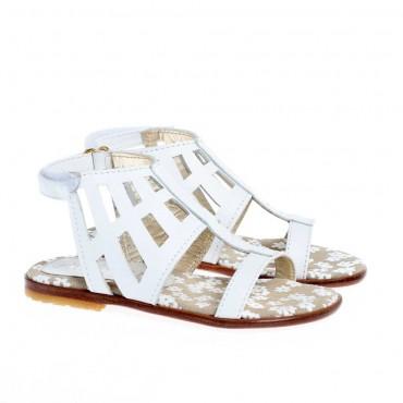 Białe sandały dla dziewczynki Simonetta 12785 B