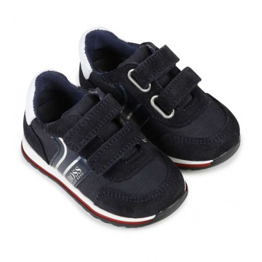 Buty chłopięce zapinane na rzepy Hugo Boss 003872
