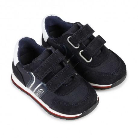 Buty chłopięce zapinane na rzepy Hugo Boss 003872 B