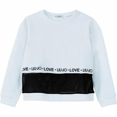 Biała bluza dla dziewczynki Liu Jo 003877 A