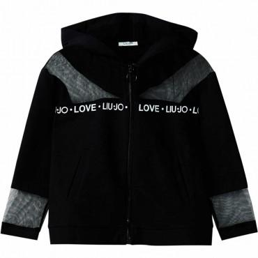 Czarna bluza dla dziewczynki Liu Jo 003878 A