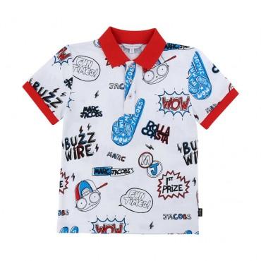 Chłopięca koszulka polo Little Marc Jacobs 003882