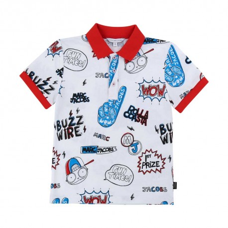 Chłopięca koszulka polo Little Marc Jacobs 003882 A