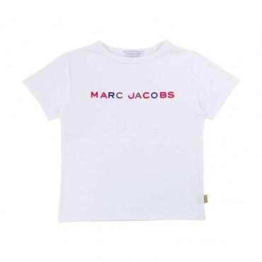Biały t-shirt dla dziecka Marc Jacobs 003890