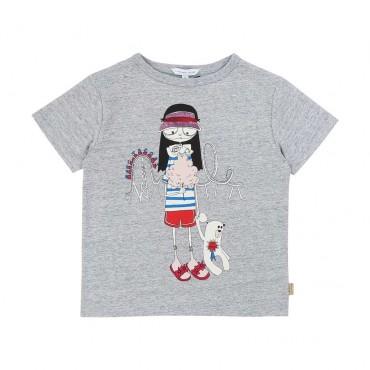 T-shirt dla dziecka Little Marc Jacobs 003891