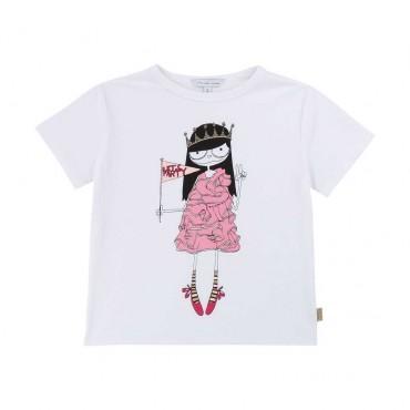 T-shirt dla dziewczynki Little Marc Jacobs 003892