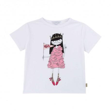 T-shirt dla dziewczynki Little Marc Jacobs 003892 A