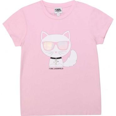 T-shirt dla dziewczynki Karl Lagerfeld 003895