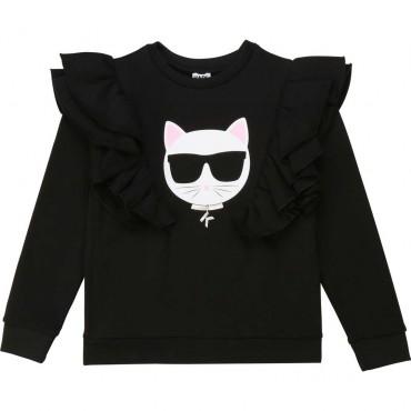 Czarna bluza dziewczęca Karl Lagerfeld 003896 A