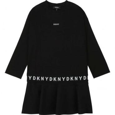 Rozkloszowana sukienka dla dziewczynki DKNY 003897 A