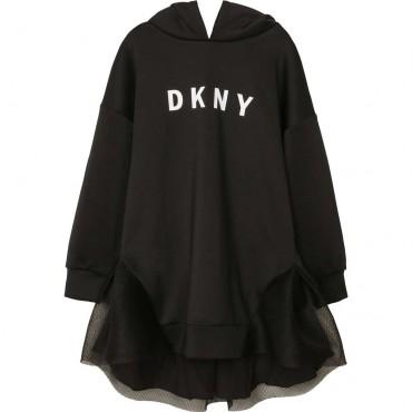 Dziewczęca sukienka z kapturem DKNY 003899