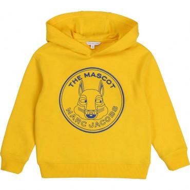 Żółta bluza z kapturem Little Marc Jacobs 003902 A
