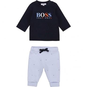 Komplet niemowlęcy dla chłopca Hugo Boss 003904 A