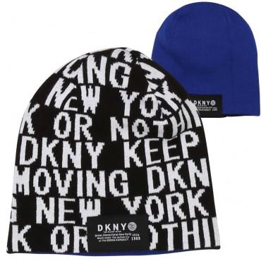 Dwustronna czapka dla dziecka DKNY 003908 A