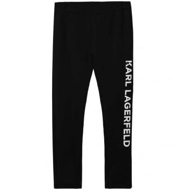 Czarne legginsy dla dziecka Karl Lagerfeld 003910 A
