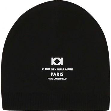 Czarna czapka dla dziecka Karl Lagerfeld 003912 A
