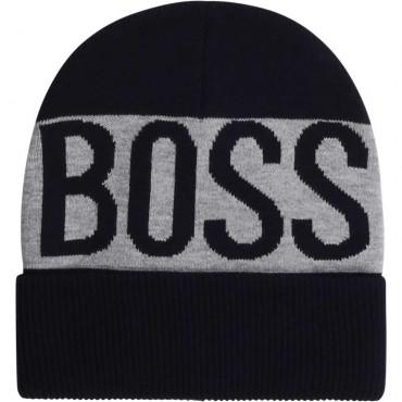 Chłopięca czapka z dzianiny Hugo Boss 003918 A