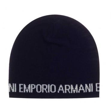 Granatowa czapka dla chłopca Emporio Armani 003923 A