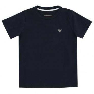 Granatowy t-shirt chłopięcy Emporio Armani 003925