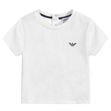 Biała koszulka niemowlęca Emporio Armani 003927