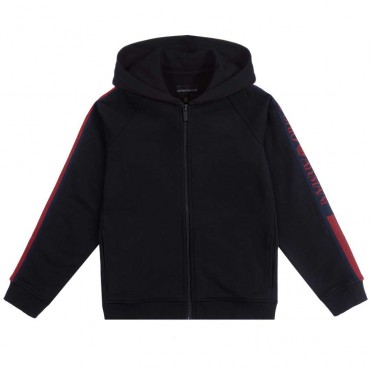 Granatowa bluza dla chłopca Emporio Armani 003932 B