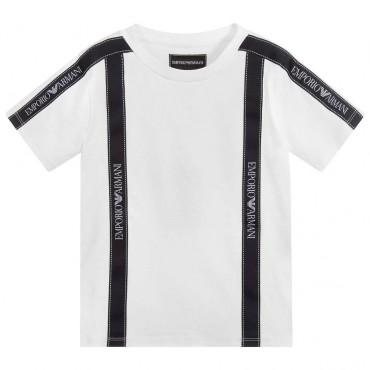 Jasny t-shirt dla chłopca Emporio Armani 003933