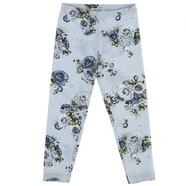 Niebieskie legginsy dla dziecka Monnalisa 003940 A