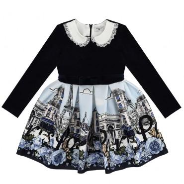 Sukienka dla dziewczynki Paris Monnalisa 003942
