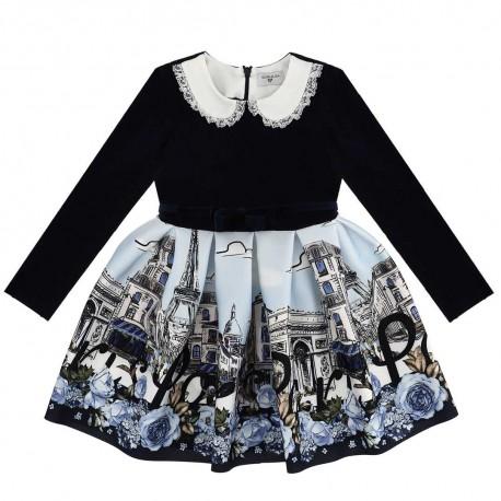 Sukienka dla dziewczynki Paris Monnalisa 003942 A
