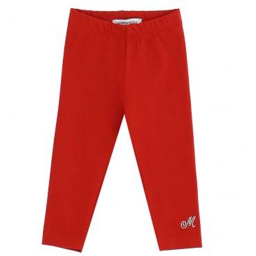 Czerwone legginsy dla dziewczynki Monnalisa 003944 A