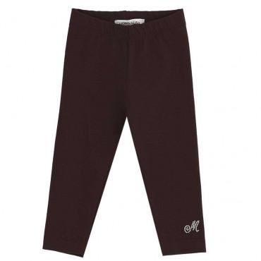 Czarne legginsy dla dziewczynki Monnalisa 003945 A