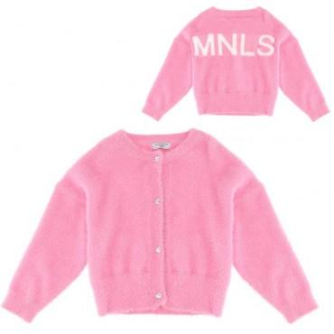 Różowy kardigan dla dziewczynki Monnalisa 003946 a