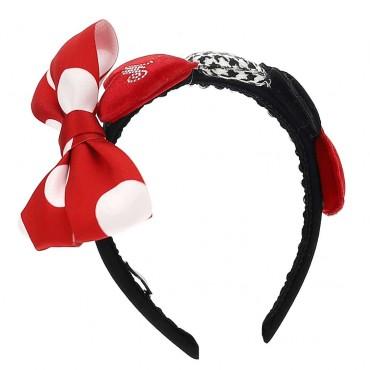 Czarno-czerwona opaska na włosy Monnalisa 003948 a