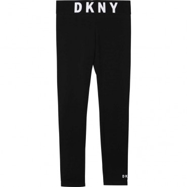 Czarne legginsy dla dziewczynki DKNY 003969 A