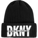 Czarna czapka dziewczęca beanie DKNY 003970
