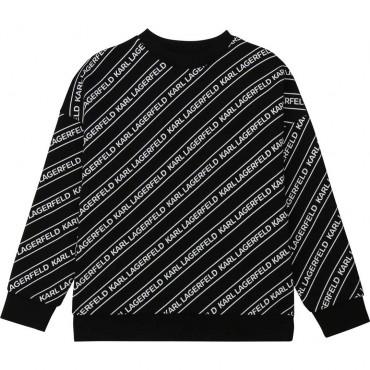 Bluza chłopięca z nadrukiem Karl Lagerfeld 003977 A