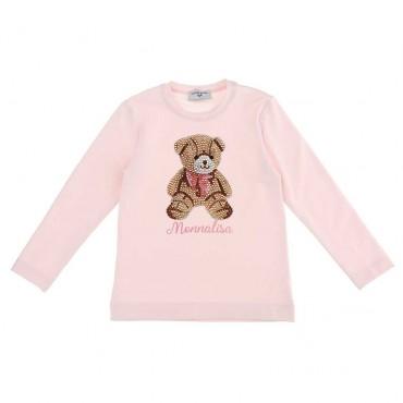Bluzka dla dziewczynki z misiem Monnalisa 004004 a