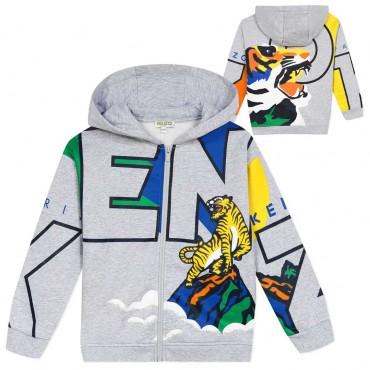 Bluza chłopięca Kenzo Venture Tiger Print 004018 a