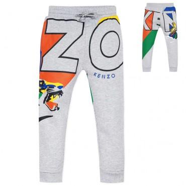 Spodnie chłopięce Kenzo Venture Tiger Print 004016 a