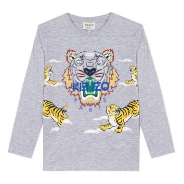 Koszulka dziecięca z nadrukiem Kenzo Kids 004019 a