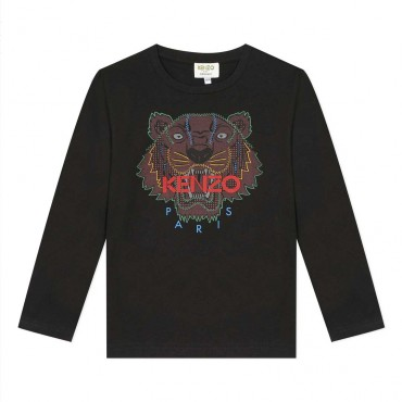 Organiczna koszulka chłopięca Kenzo Tygrys 004020