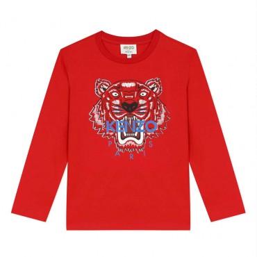Ekologiczna koszulka chłopięca organic cotton Kenzo Kids 004021 a
