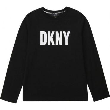 Bawełniany longsleeve dla chłopca DKNY 004027 A